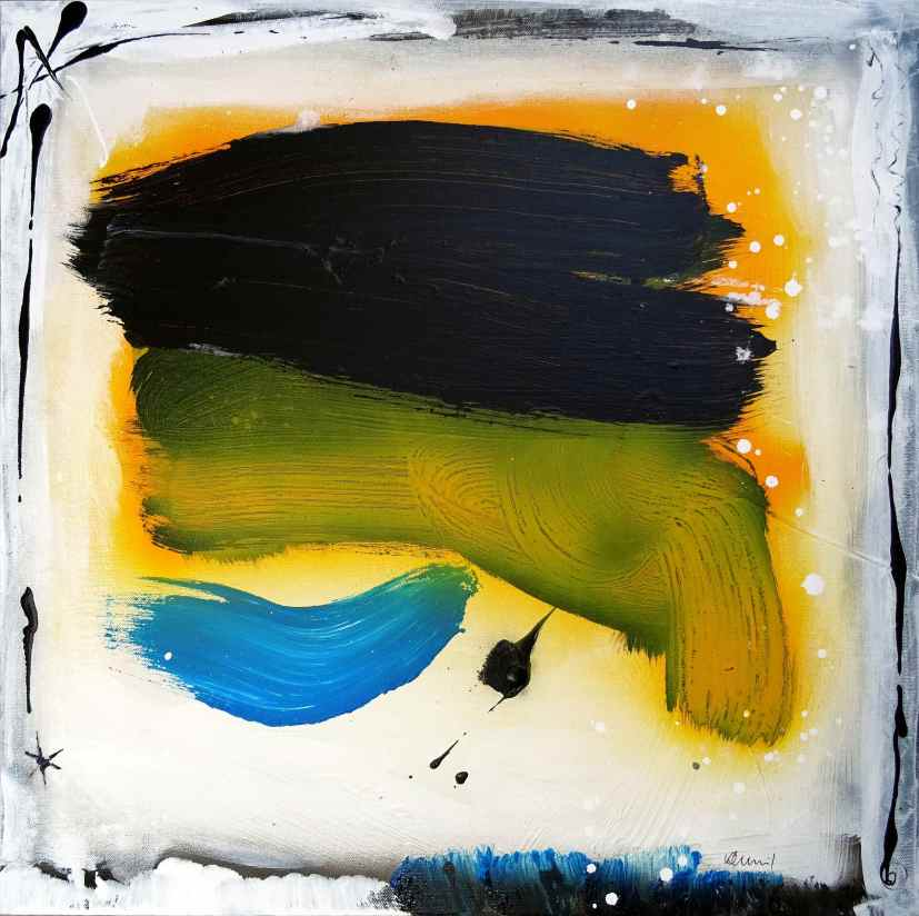 No. 395 Acrylic and Spray paint on canvas 60x 60 cm