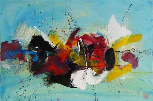 No. 409/ Eruption Acrylic on canvas 90x 60 cm
