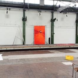 Vor Ort beim Fotografen in einem ehemaligen Strassenbahn Depot