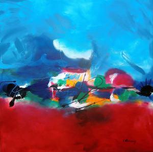 No. 359 Acrylic on canvas 100x 100 cm