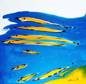 No. 362 Acrylic on canvas 80x 80 cm