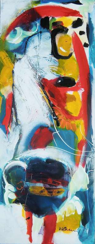 No. 363 Acrylic on canvas 100x 40 cm
