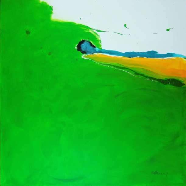 No. 377 Acrylic on canvas 100x 100 cm
