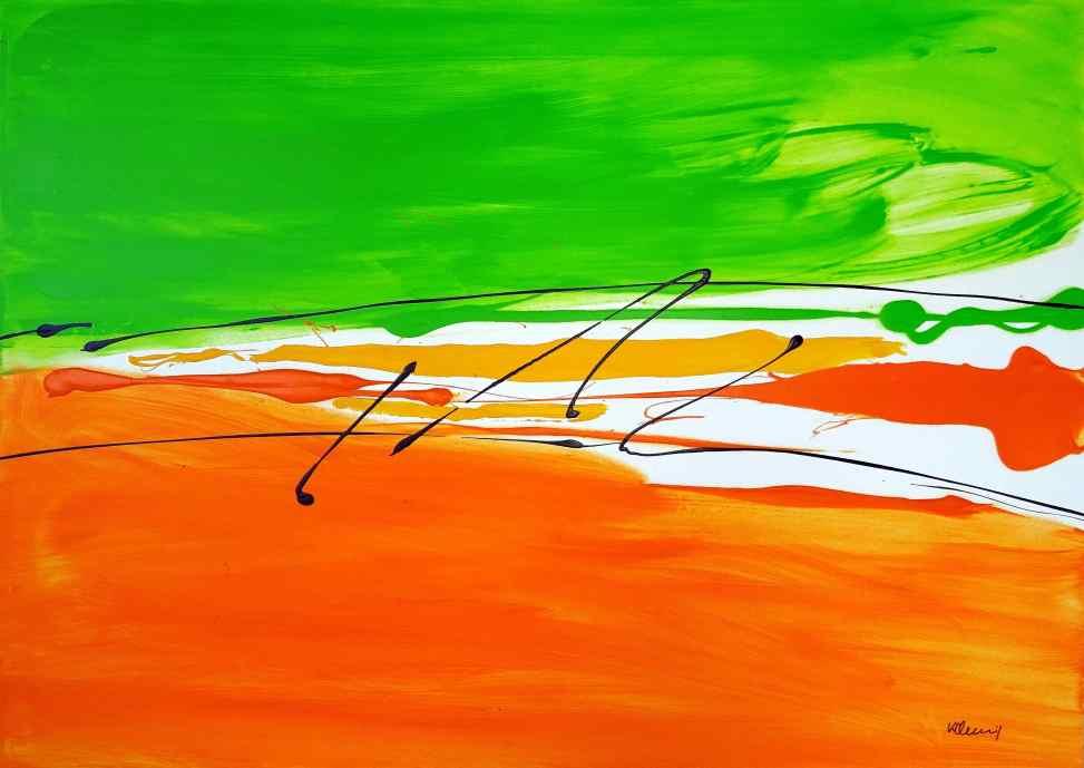No. 394 Acrylic on canvas 100x 140 cm