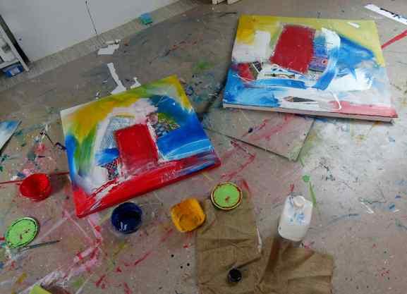Frisch bemalt/ fresh painted