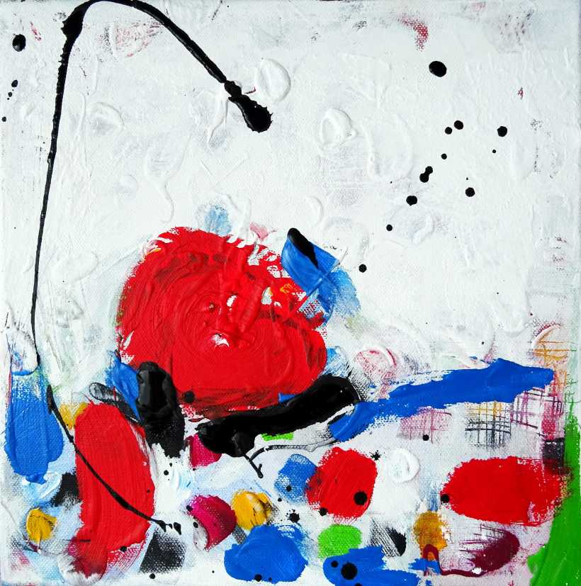 Series Brush strokes No. 06/ 2015  Acrylic on canvas   30x 30 cm