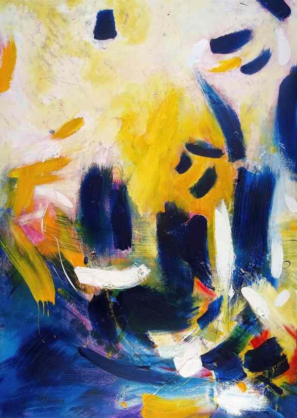 No. 402 Acrylic on canvas 140x 100 cm