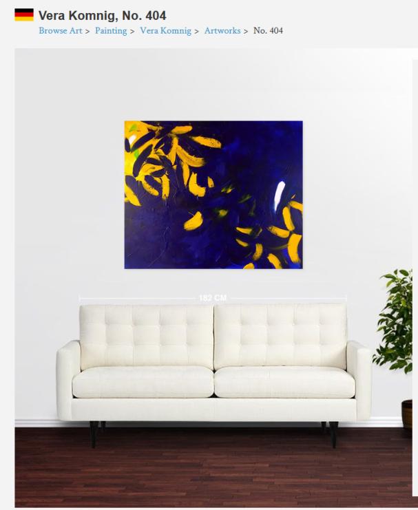 No. 404 Acrylic on canvas 100x 120 cm