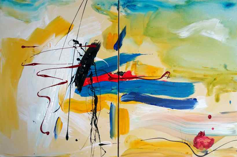 """DIPTYCHON """"Sommer-Edition"""" 2 canvases"""