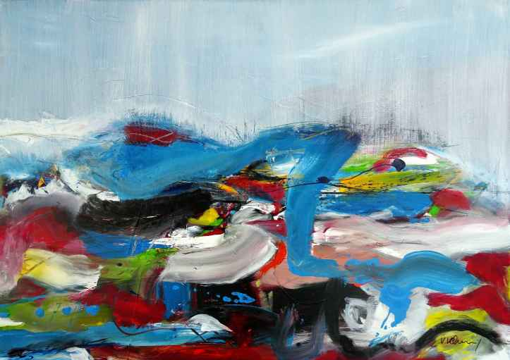No. 408/ Eruption 2 Acrylic on canvas 100x 140 cm