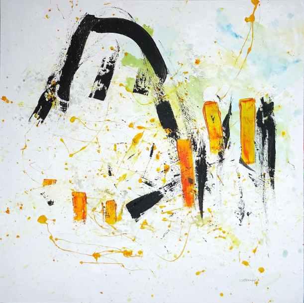 No. 414 Acrylic on canvas 79,5x 79,5 cm