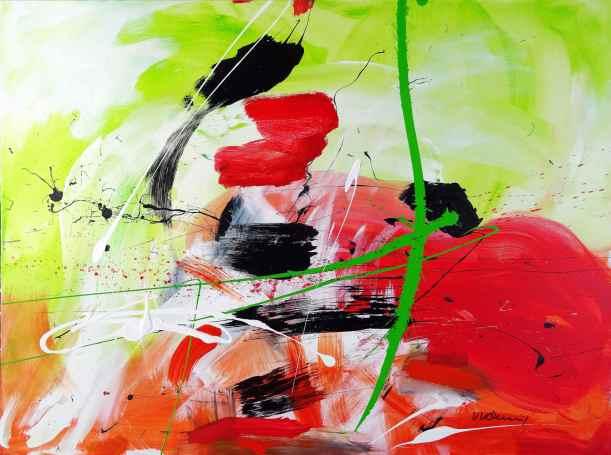 No. 412 Acrylic on canvas 90x 120 cm