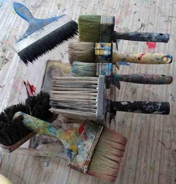 Meine Pinsel/ My brushes