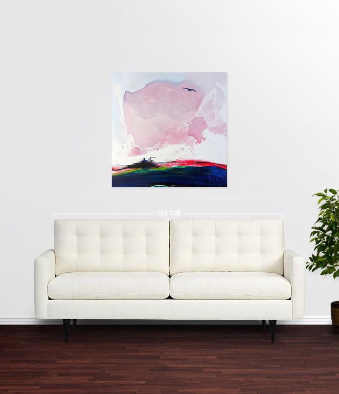 Following a bird Acrylic on canvas 90x 90 cm