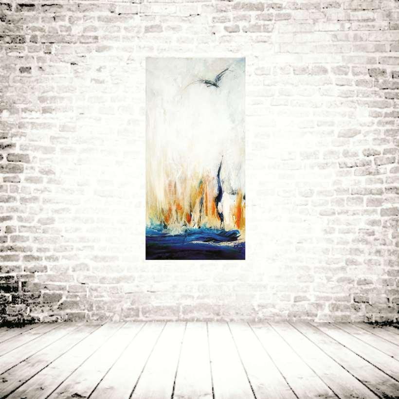 *Following a bird* II Hanging on a wall