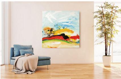 Sommersonnensprenkel Acrylic on canvas 90x90 cm