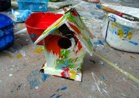 tiny art häusken fresh painted