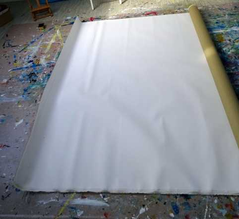 step 1 Canvas size: 215x 130 cm