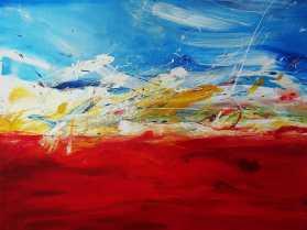 Flirrewirbelwind Acrylic on canvas 90x 120 cm
