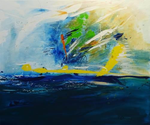 Meeresleuchten, Acrylic on canvas, 120x 100 cm