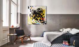 Schicht im Schacht-Schwarzes Gold, Acrylic on Canvas, 100x 100 cm