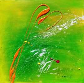 Out Of Silence- Daydream Acrylic on canvas 60x 60 cm