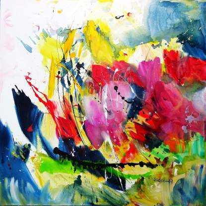 Spring Fever Acrylic on canvas 100 x 100 cm
