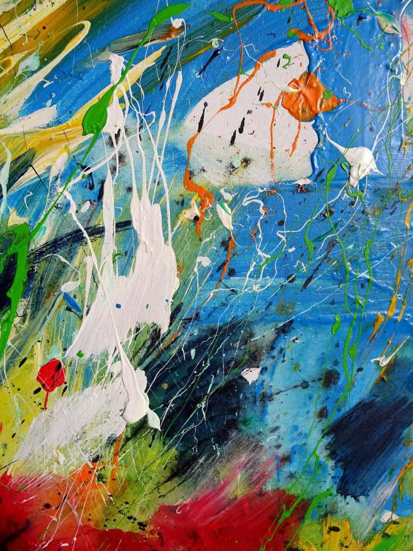Cutout White Tulip Acrylic and Oilcrayon on canvas 60 x 80 cm