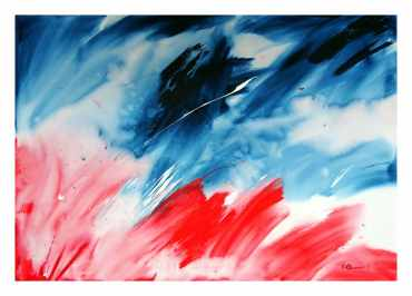 Flow II Acrylic on canvas 70 x 100 cm