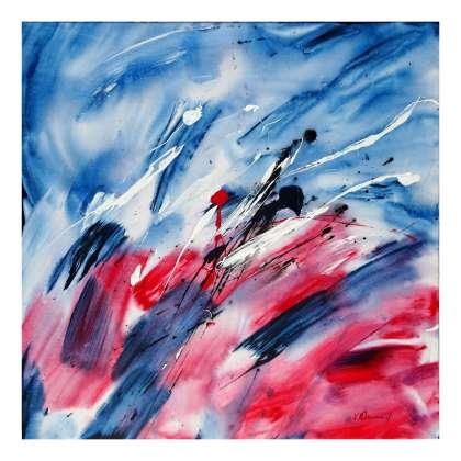 Flow Acrylic on canvas 80 x 80 cm