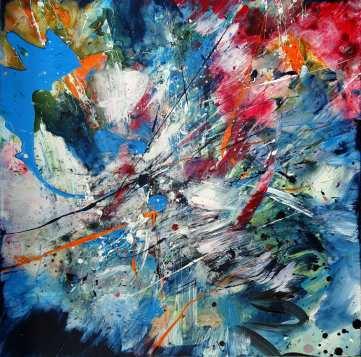 Cosmic Dream Acrylic on canvas80 x 80 cm
