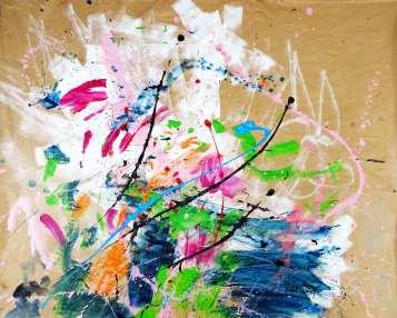 Sakura Acrylic on paper 96 x 119 cm