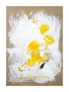 Eieiei II Acrylic and oilcrayon on raw 120g/ m2 Paper