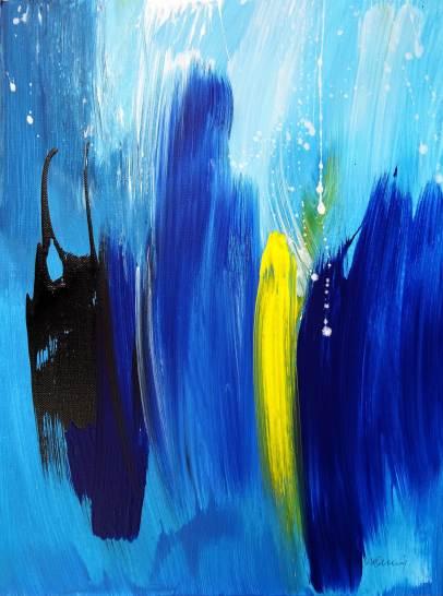 Little Blue IIAcrylic on canvas30x 40 cm