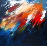 Momentum Acrylic on canvas 80x 80 cm