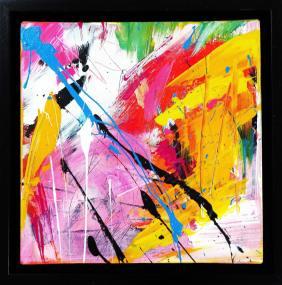 Falling In Love Acrylic on canvas 20x 20 cm 24x 24 cm framed