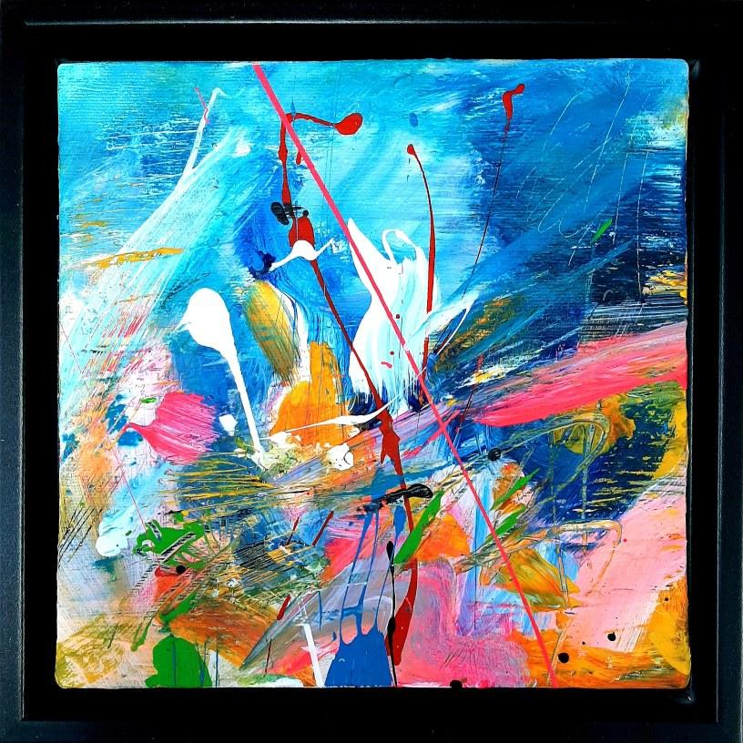 Little Treasure Acrylic on canvas 20x 20 cm unframed 24x 24 cm framed