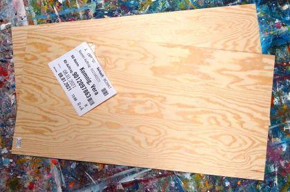 Holzplatten zur Sicherung
