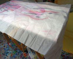 Eine Schicht zartes Papier