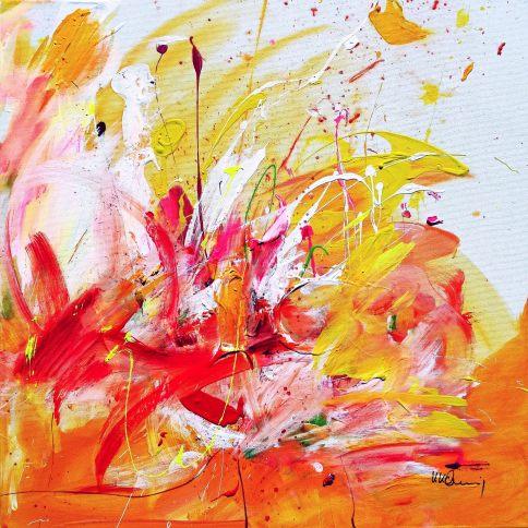 Walking On Sunshie II Acrylic on canvas 70x 70 cm