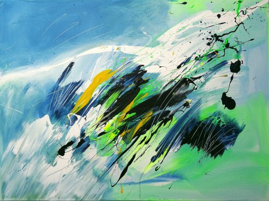 On The Wings Of Freedom Acrylic on canvas 80x 60 cm